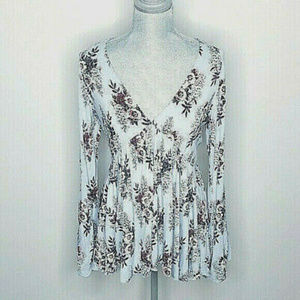 Free People Womens Tunic Speak Easy Floral Size M